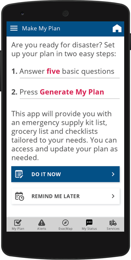Mobile App My Plan Screen